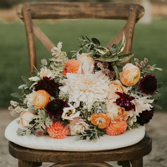 Napa Chair with Bouquet