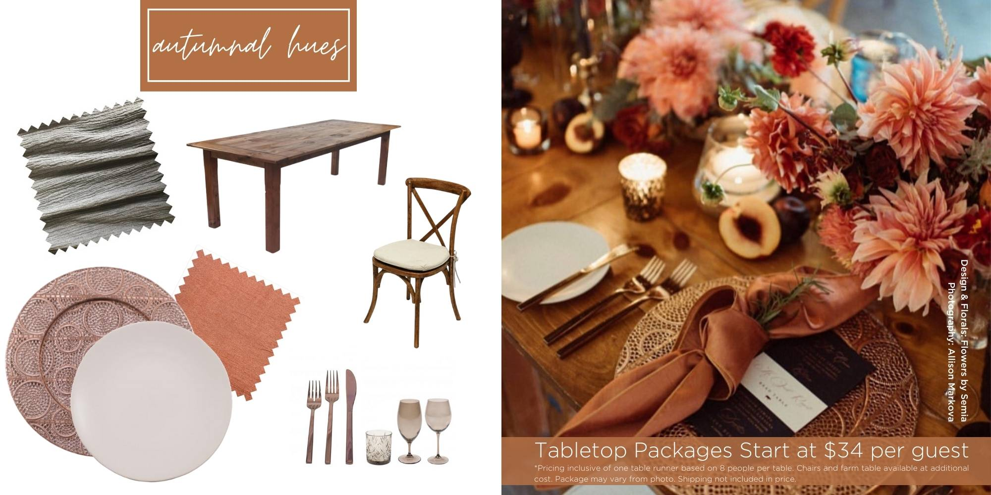 Fall Wedding Inspiration, Wedding and Event Rentals