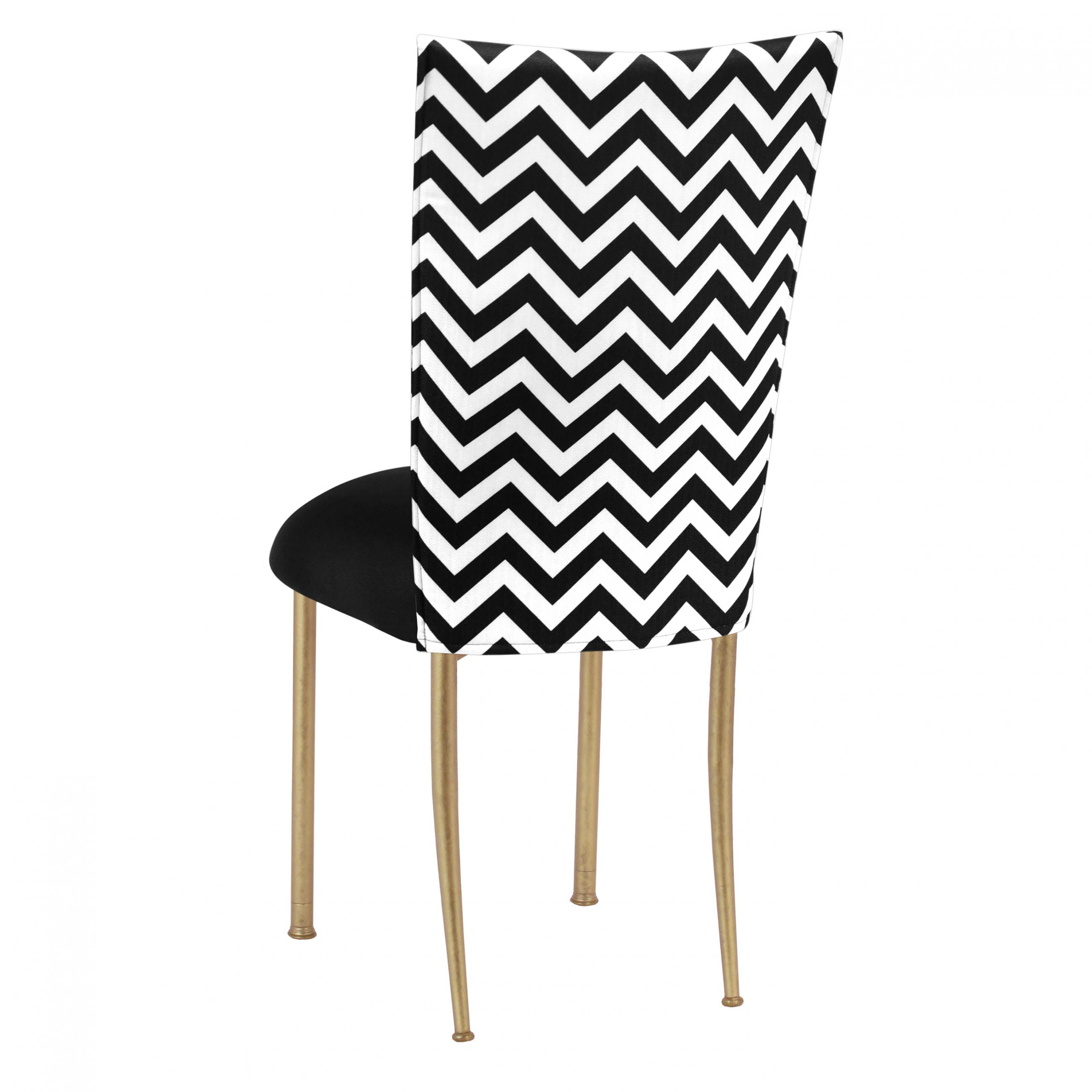 Amazing Chevron Black White Fanfare Chameleon Chair Topper Peak Gmtry Best Dining Table And Chair Ideas Images Gmtryco