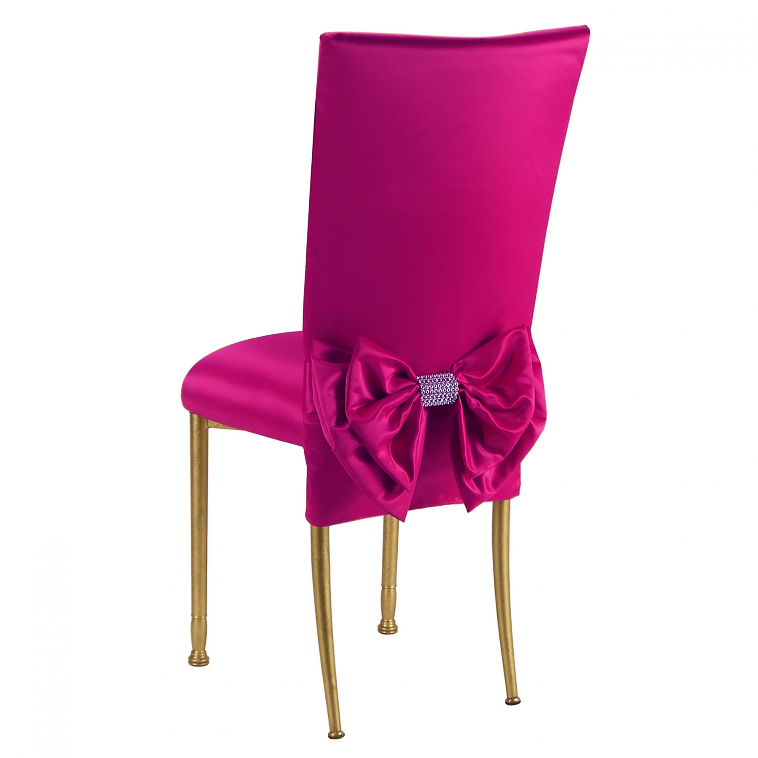 Strange Satin Fuchsia 3 4 Fanfare Chameleon Chair Topper Peak Bralicious Painted Fabric Chair Ideas Braliciousco