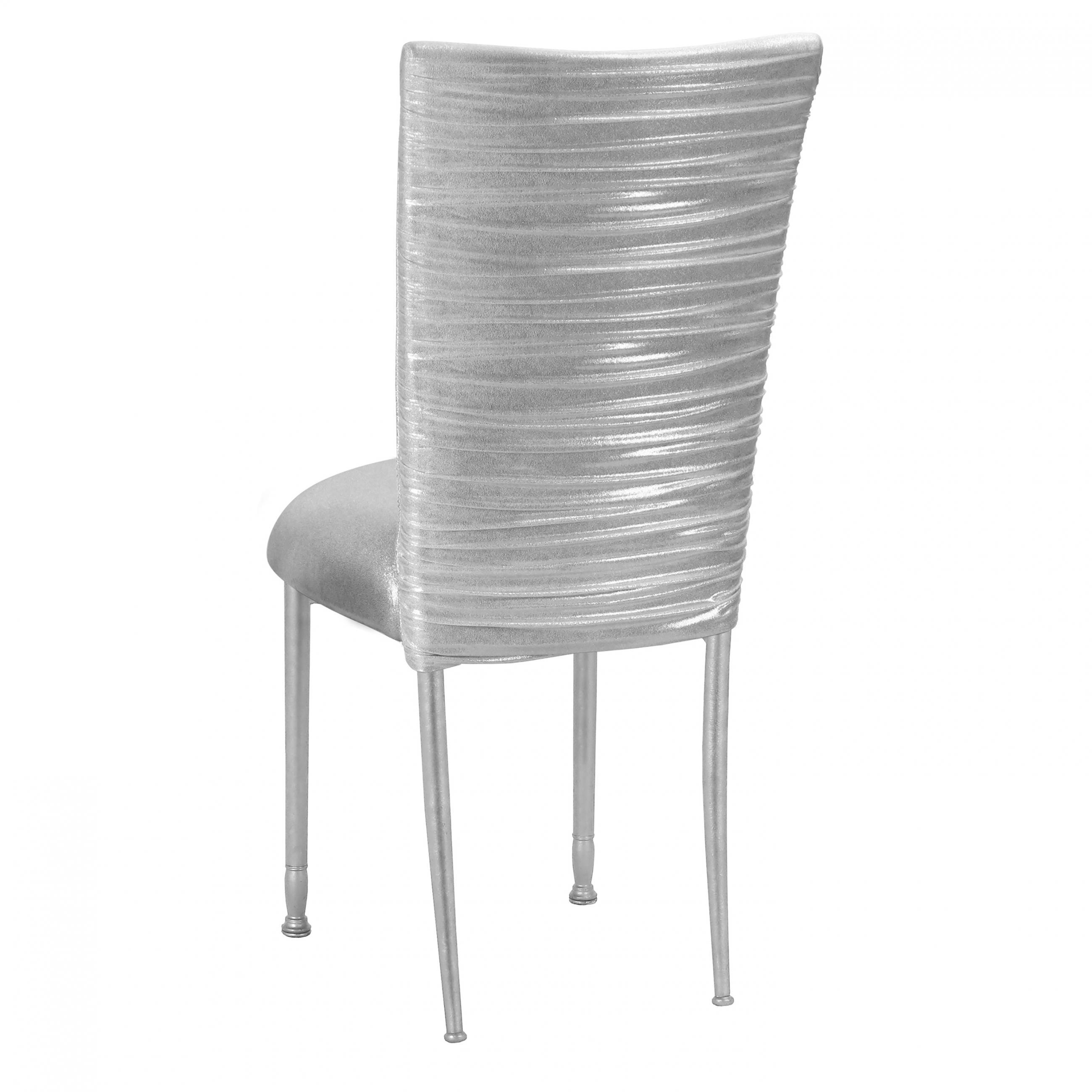 Wondrous Chloe Metallic Silver On White Foil Fanfare Chameleon Chair Beatyapartments Chair Design Images Beatyapartmentscom