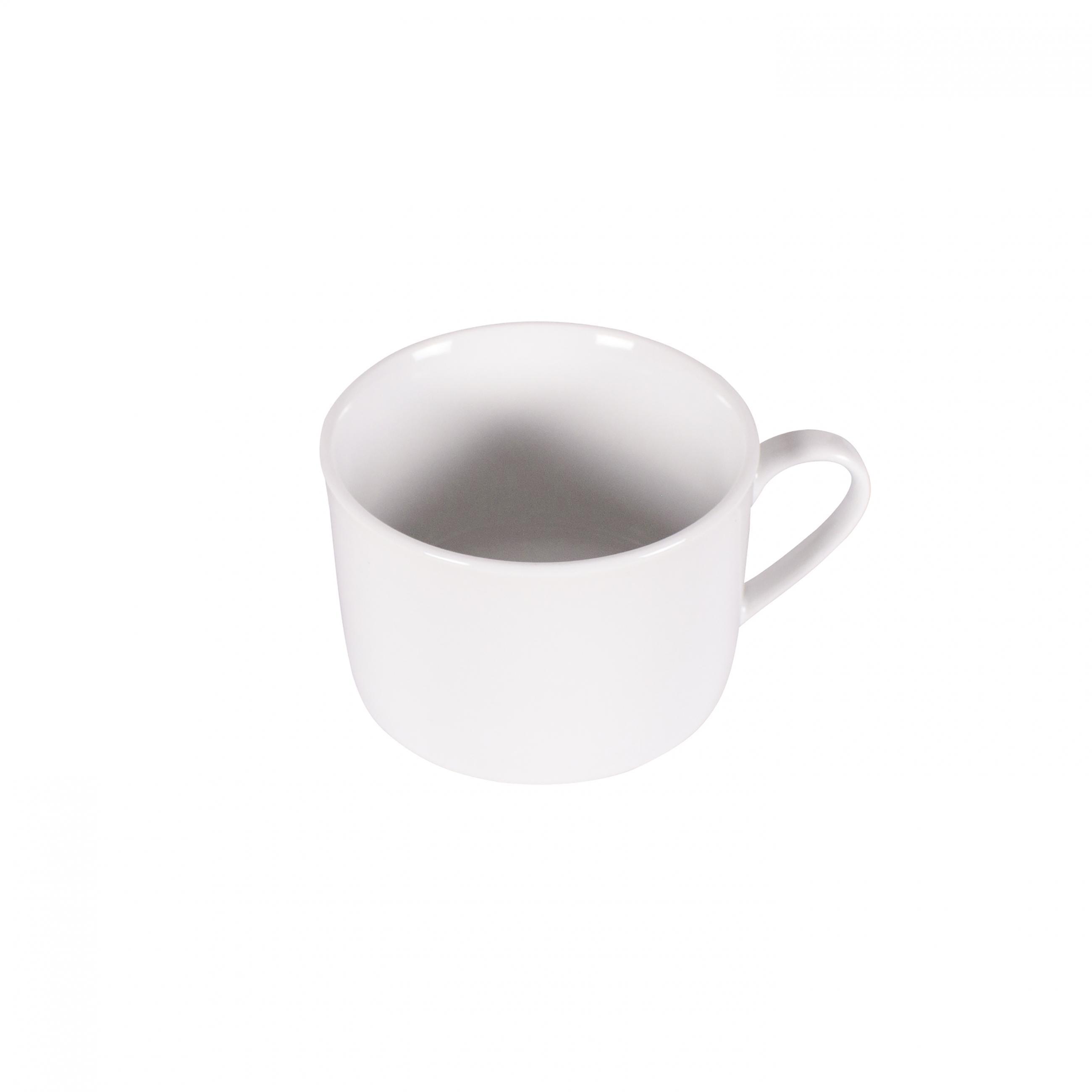 9oz White Rim Short Coffee Cup Peak Event Services