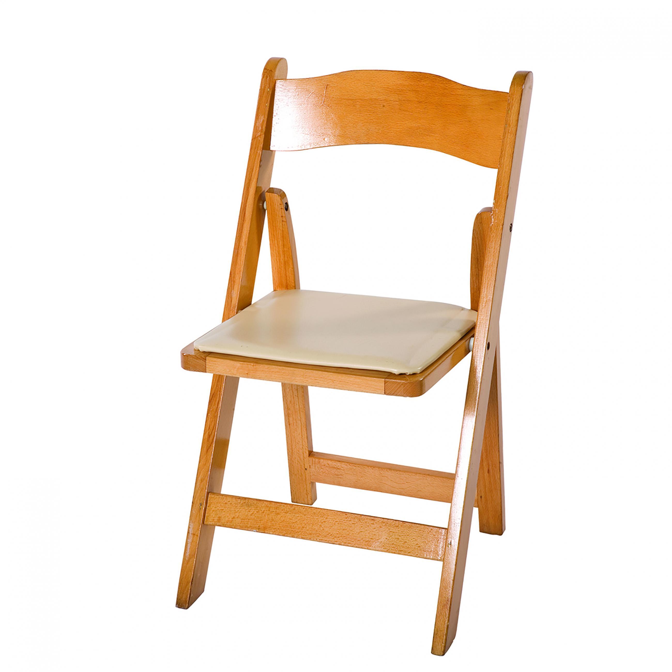 Garden Natural w/ White Cushion Chair | Peak Event Services