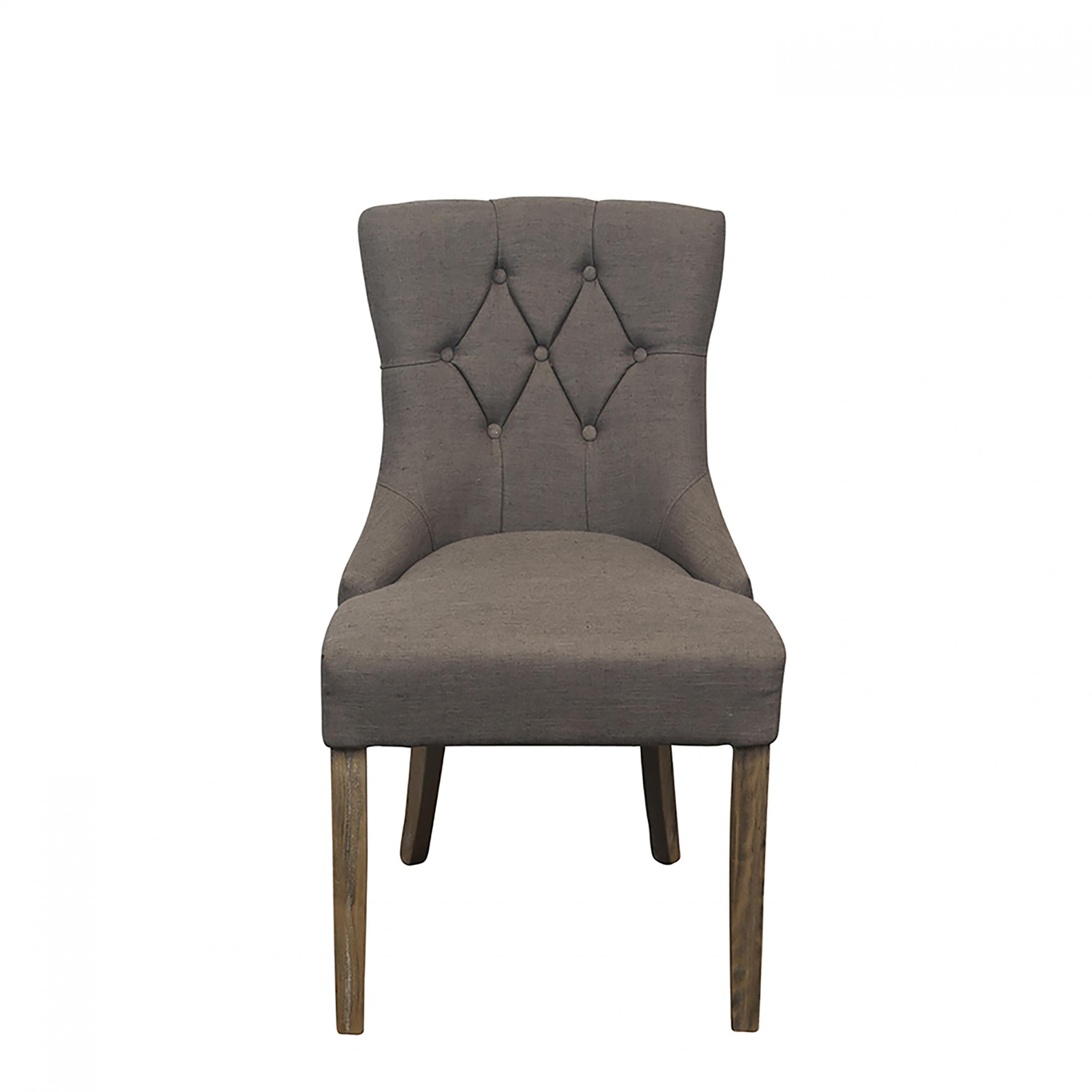 Tufted Dining Grey Chair Peak Event Services