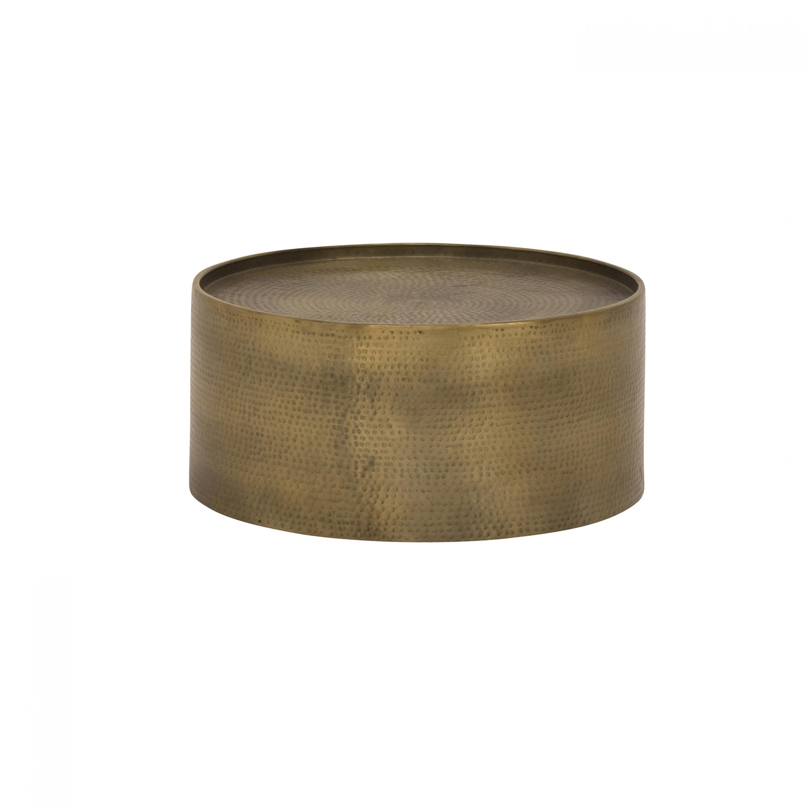 Let Your Unique Style Shine When You Add The Hammered Br Coffee Table To Lounge Finish And Texture Of This Round