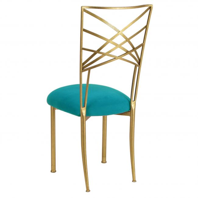 Suede Turquoise Fanfare Chameleon Chair Cushion Cap Peak Event