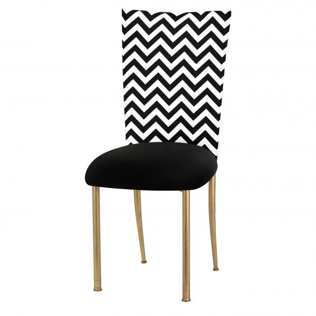Miraculous Chevron Black White Fanfare Chameleon Chair Topper Peak Gmtry Best Dining Table And Chair Ideas Images Gmtryco