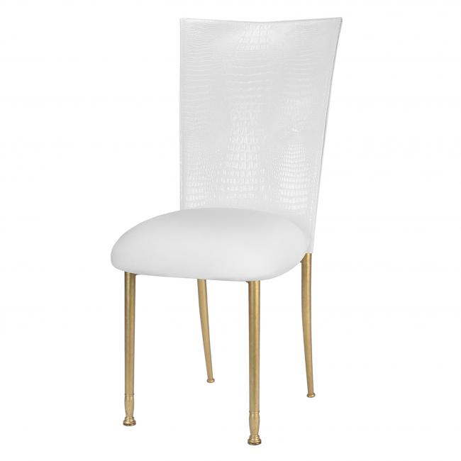 Fabulous White Croc Fanfare Chameleon Chair Topper Peak Event Services Gmtry Best Dining Table And Chair Ideas Images Gmtryco
