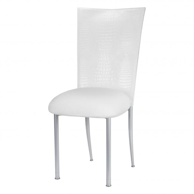 Super White Croc Fanfare Chameleon Chair Topper Peak Event Services Gmtry Best Dining Table And Chair Ideas Images Gmtryco