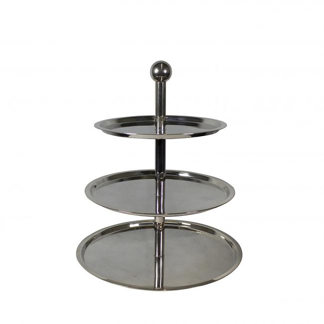 This Silver Plate 3 Tier Round Pastry Stand Is Perfect For Dessert Display Small Plates Or As An Individual Etizer