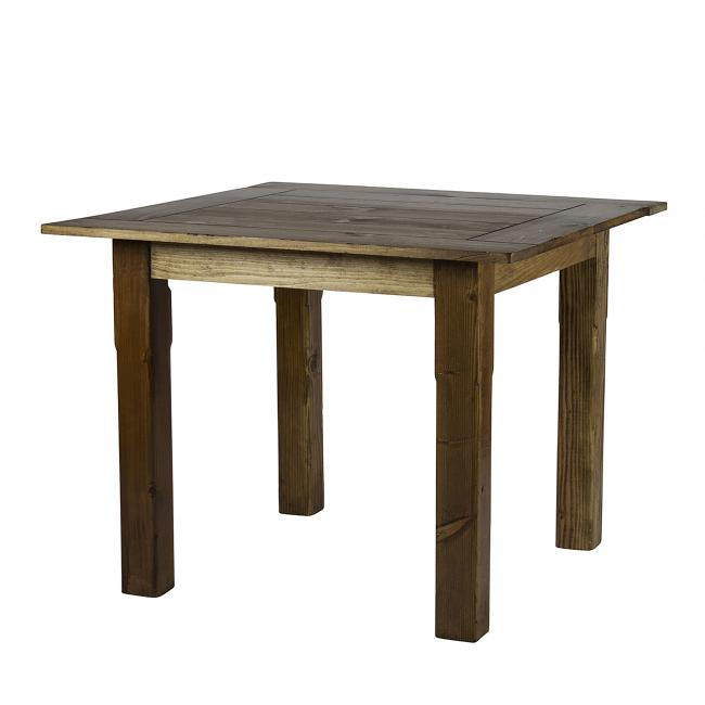 Square Rustic Brown Farm Tables