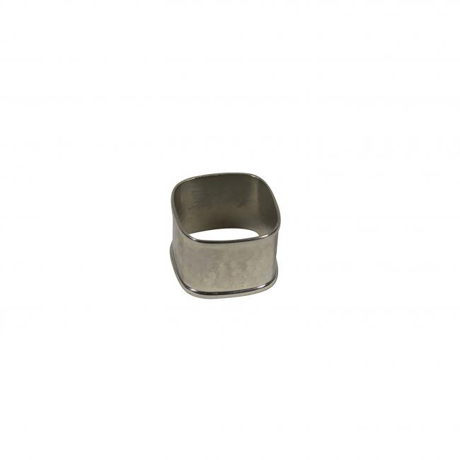 Hammered Sq Silver Napkin Ring