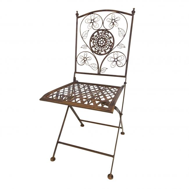 Bistro Sq Metal Folding Chair
