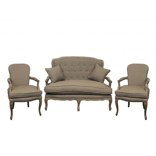 Add A Vintage Style To Your Soft Seating With Our Vintage Wheat Set That  Includes A Sofa, Two Arm Chairs And A Coffee Table. Coffee Table Style May  Vary ...