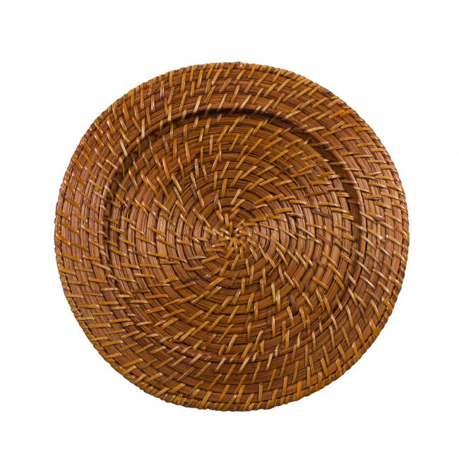 Light Brown Rattan Adds A Rustic Feel To Your Tabletop This Woven Charger Plate Measures 13 In Diameter Plates Are An Excellent Way